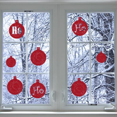 Christmas 2013 Ho Ho Ho Window Sticker Color: Dark Red