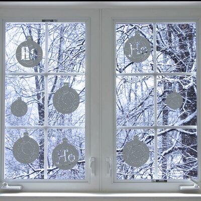 Christmas 2013 Ho Ho Ho Window Sticker Color: Medium Grey