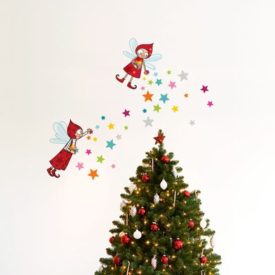 Christmas 2013 Elves Wall Decal Color: Red