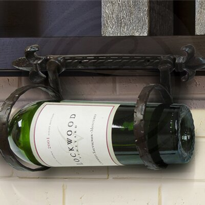 Fleur de Lis 1 Bottle Wall Mounted Wine Rack
