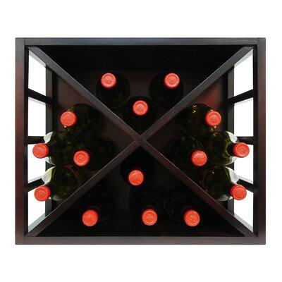 Stackable Diamond 15 Bottle Tabletop Wine Rack