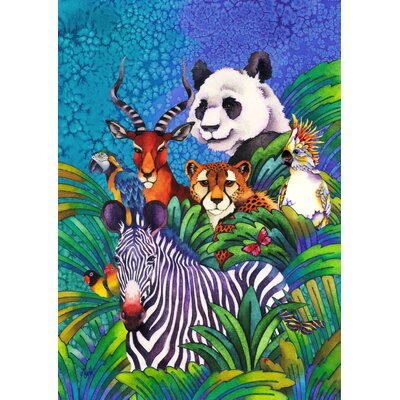 Jungle Friends Too 2-Sided Garden flag 109456