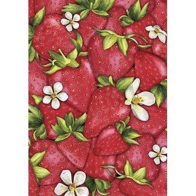 Strawberry Collage Garden Flag 109501