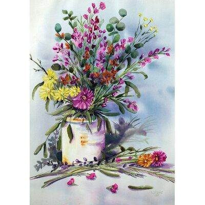 Watercolor Flowers Garden Flag 1112077