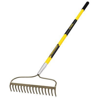 TruPro Bow Rake with Fiberglass Handle