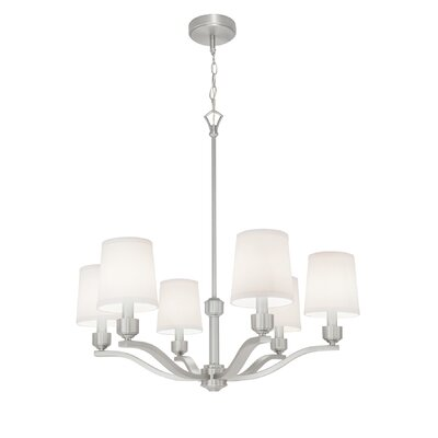 Roule 6-Light Shaded Chandelier Finish: Brushed Nickel