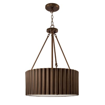 Metallique 4-Light Drum Pendant Finish: Burnished Bronze