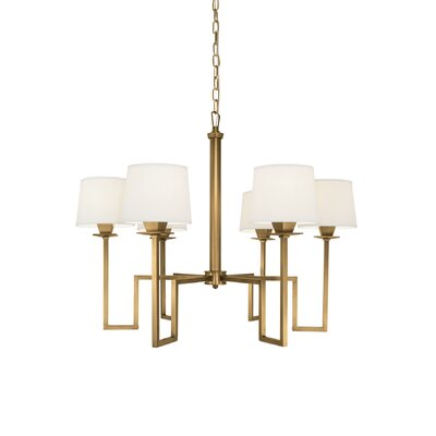 Borquez 6-Light Shaded Chandelier Finish: Aged Brass