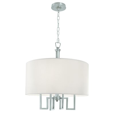 Borquez 4-Light Drum Chandelier Finish: Brushed Nickel