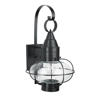 Withyditch 1-Light Glass Shade Outdoor Wall Lantern