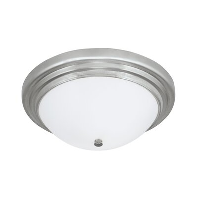Elizabeth 2-Light Flush Mount Finish: Brushed Nickel
