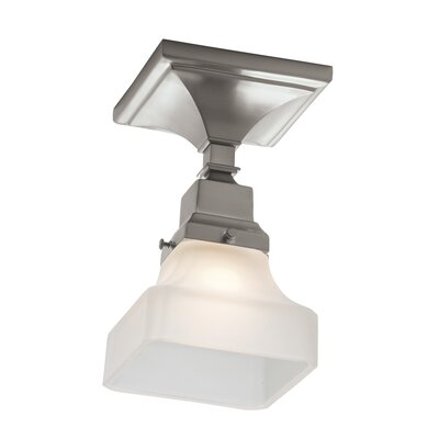 Birmingham 1-Light Semi Flush Mount Finish: Brushed Nickel