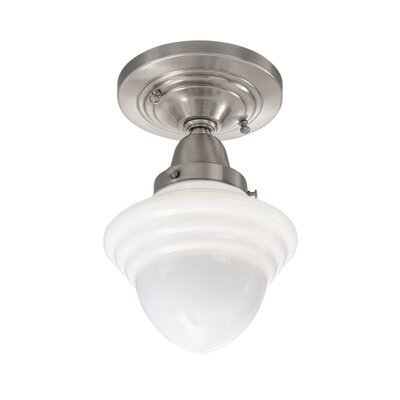 Lanette 1-Light Semi Flush Mount Finish: Brushed Nickel