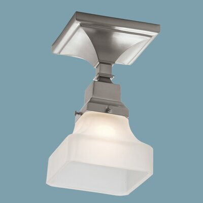 Schaefferstown 1-Light Semi Flush Mount with Shade Finish: Brushed Nickel