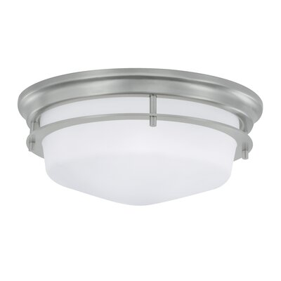 Gallery 2-Light Flush Mount Finish: Brushed Nickel