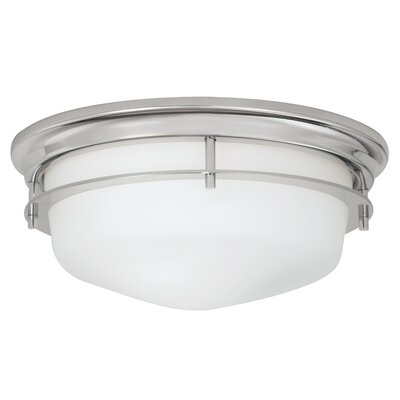 Gallery 2-Light Flush Mount Finish: Polished nickel
