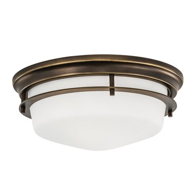 Gallery 2-Light Flush Mount Finish: Burnished Bronze