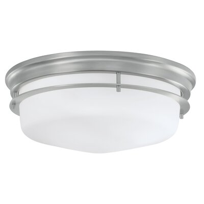 Gallery 3-Light Flush Mount Finish: Brushed Nickel