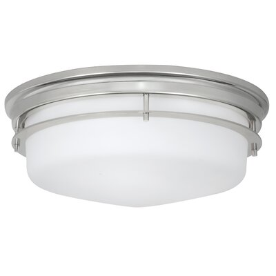 Gallery 3-Light Flush Mount Finish: Polished Nickel
