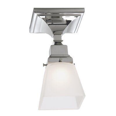 Schaefferstown 1-Light Semi Flush Mount with Shade Finish: Chrome