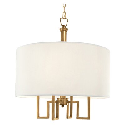 Borquez 4-Light Drum Chandelier Finish: Aged Brass