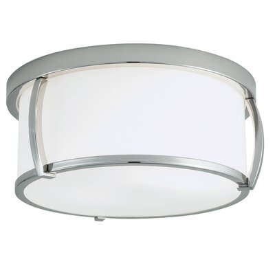 Brooklyn 3-Light Flush Mount Finish: Polished Nickel