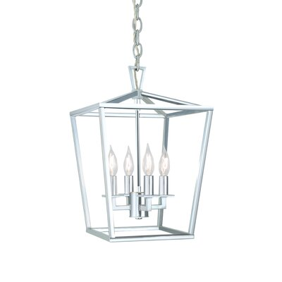 Cage 4-Light Foyer Pendant