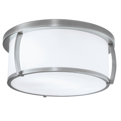 Brooklyn 3-Light Flush Mount Finish: Brushed Nickel