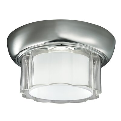 Carousel 1-Light Flush Mount Finish: Polish Nickel