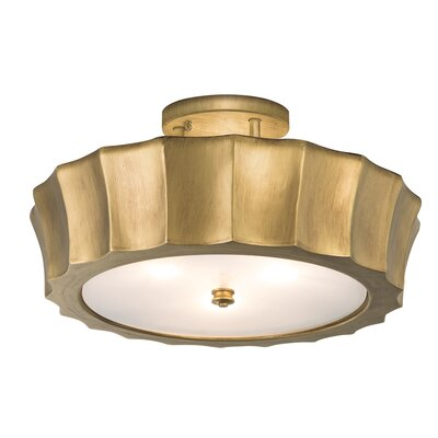 Isabel 4-Light Semi-Flush Mount Finish: Antique Brass