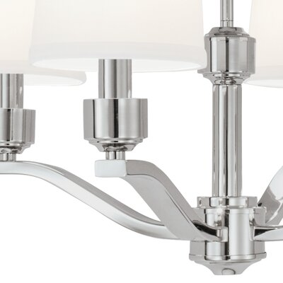 Roule 6-Light Shaded Chandelier Finish: Polished Nickel