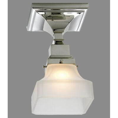 Schaefferstown 1-Light Semi Flush Mount Finish: Chrome