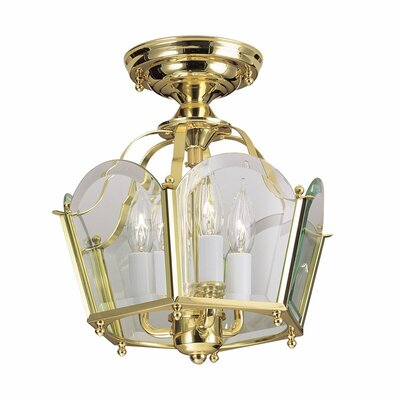 Legacy 3-Light Semi Flush Mount Finish: Polished Brass