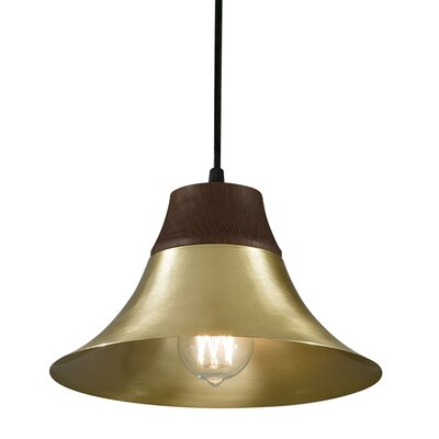 Kamiko 1 Light Mini Pendant Finish: Satin Brass