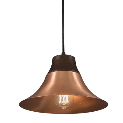 Kamiko 1 Light Mini Pendant Finish: Copper