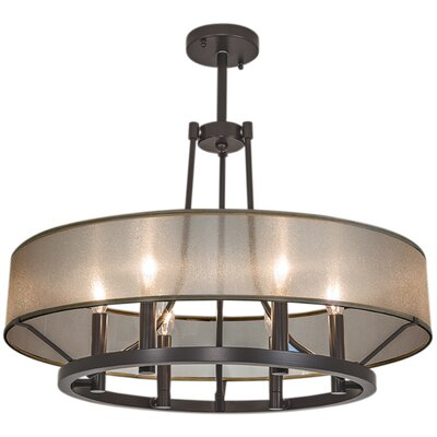 Ghost 6 Light Candle-Style Chandelier Finish: Polished Nickel, Shade Color: Black