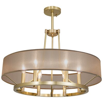 Ghost 6 Light Candle-Style Chandelier Finish: Satin Brass, Shade Color: Gold