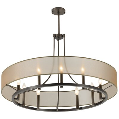 Ghost 9 Light Candle-Style Chandelier Finish: Brush Nickel, Shade Color: Silver