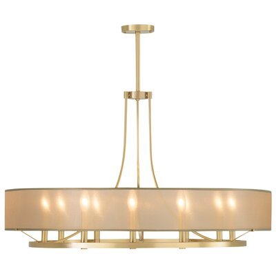 Ghost 9 Light Candle-Style Chandelier Shade Color: Silver, Finish: Satin Brass
