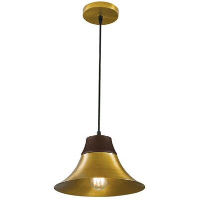 Kamiko 1 Light Mini Pendant Finish: Aged Brass