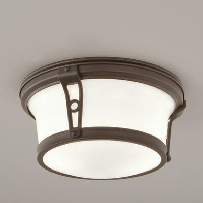 Leah 2-Light Flush Mount Finish: Architectural Bronze, Size: 6 H x 13 W