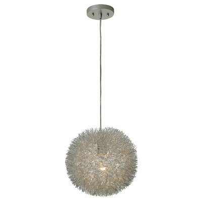 Chidester 1 Light Globe Pendant Size: Small, Finish: Aluminum