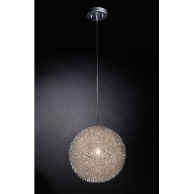 Chidester 1 Light Globe Pendant Size: Large, Finish: Aluminum