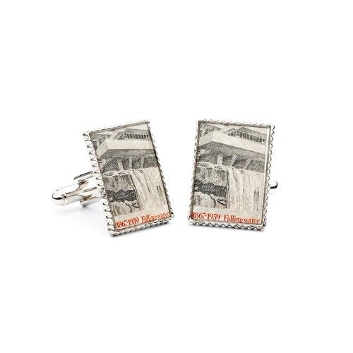 Penny Black 40 Frank Lloyd Wright Falling Water Stamp Cufflinks   PB