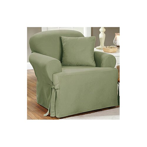 Sure Fit Cotton Duck Chair T Cushion Slipcover Ebay