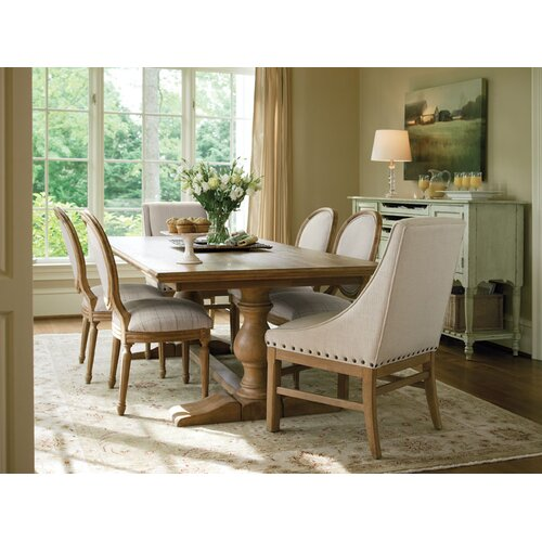 Distressed Farmhouse Living Room: Universal Furniture Great Rooms Farmhouse Dining Table In