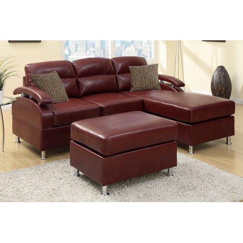 Poundex Bobkona Sectional Sofa Ebay