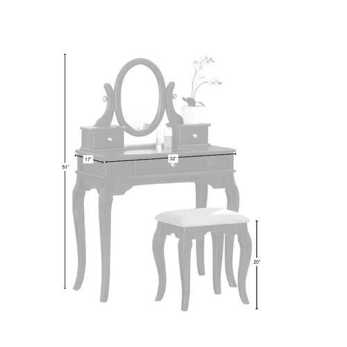 Tremendous Poundex Bobkona Rylan Vanity Set In Dark Cherry On Popscreen Pabps2019 Chair Design Images Pabps2019Com