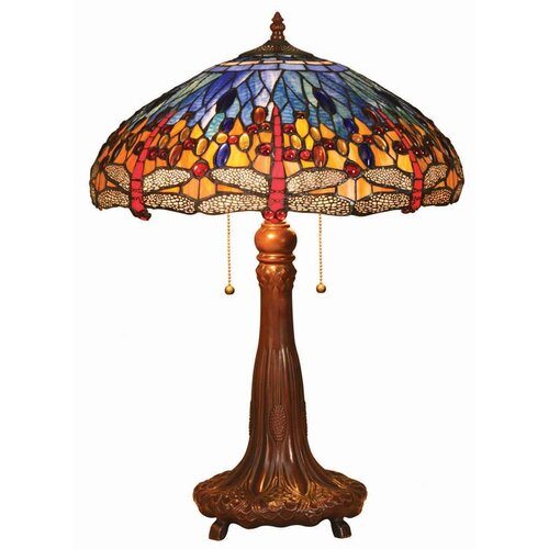 chloe lighting tiffany style dragonfly table lamp wi blue shade. Black Bedroom Furniture Sets. Home Design Ideas