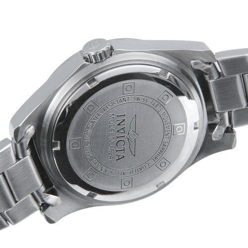Invicta Mens Pro Diver Stainless Steel Watch with Silver Dial